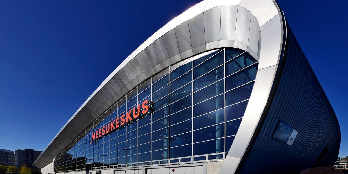 Helsingin messukeskuksen julkisivu